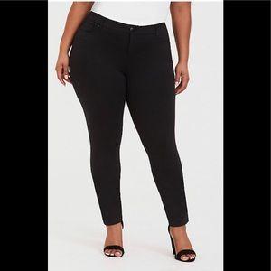 Torrid black stretch skinny slacks. Soft